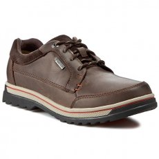 Félcipő CLARKS - RipwayPath GTX 261102537 Dark Brown Lea