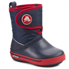 Hótaposó CROCS - Crocband II.5 Gust Boot Kids 12905 Navy/Red