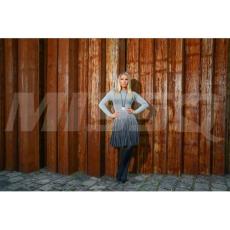 MISSQ M033 K.Rakott szürke pulóver (2)