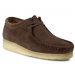 Clarks Félcipő CLARKS - Wallabee 261039257 Dark Brown Suede