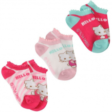Sanrio Hello Kitty zokni 3 pack 19-23 RAKTÁR