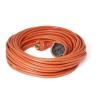 Somogyi 30fm-es hálózati hosszabbító narancs szinű NV2-30m, lengő hosszabbító