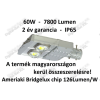 N/A 60W utcai LED lámpa 7600 Lumen IP65 2 ÉV garancia MAGYAR TERMÉK