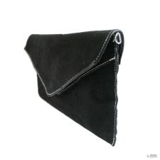 Miss Lulu London E1405 - Miss Lulu Suede Envelope Táska Clutch táska fekete kézitáska és bőrönd