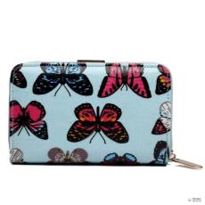 Miss Lulu London L1580B - Miss Lulu kicsi Oilcloth pénztárca pillangó kék