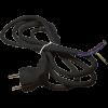 Emos S18313 FLEXO3X1,0 H05VV-F 3m fekete szerelt kábel