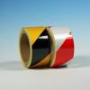 Jelölőszalag, Színes reflektív/fényvisszaverő veszélyre figyelmeztető, 25mm x 10m