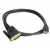 Inline HDMI-DVI adapter kábel High Speed 1m - fekete