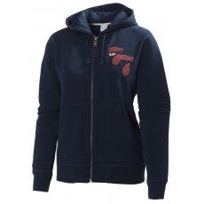 Helly Hansen W GRAPHIC FZ HOODIE Pulóver D (51041k_689-evening blue)
