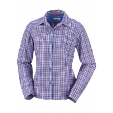 Columbia 1443221 Silver Ridge Plaid LS Shirt Ing,blúz D (AL7077-n_487-Vivid Blue)