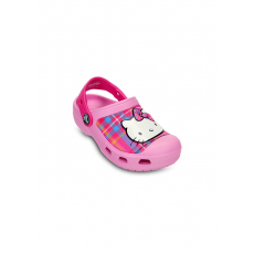CROCS CC HELLO KITTY PLAID CLOG Papucs D (CY14621K_6I6-CARNATION-NEON MAGENTA)