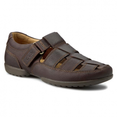 Clarks Félcipő CLARKS - Recline Open 203484858 Mahogany Leather