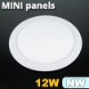 Mini kör LED panel (170 mm) 12 Watt természetes fehér