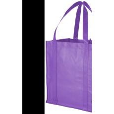 Bevásárlótáska, nemszőtt, lila (Bevásárlótáska, nem szőtt, 80 g/m2 nemszőtt anyagból.)