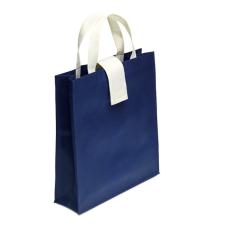 Szintetikus bevásárlótáska, kék (Összehajtható szintetikus bevásárlótáska, 70g/m2. )