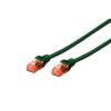 Digitus Premium CAT 6 UTP patch kábel  hossza: 3 0m   zöld DK-1612-030/G