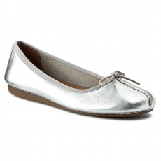 Clarks Balerina CLARKS - Freckle Ice 261140454 Silver Leather