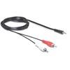 DELOCK Jack 3.5 mm (M) - 2xRCA (M) kábel 5 m