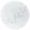 EGLO Mennyezeti lámpa 1x60W E27 átm:24,5cm háromszög minta Mars EGLO