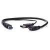 LogiLink CU0072 USB3.0 - Y Cable 2x A male/B micro 1m