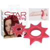 Red Star - szilikon péniszgyűrű (piros)
