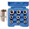 BGS 9-részes E-típusú dugókulcs készlet  E10-E24,  1/2