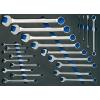 BGS Szerszámtálca gurulós szerszámkocsihoz: kombinált csavarkulcs és gyűrű kulcsok E típusú csavarokhoz,