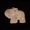 Rózsakvarc elefánt medál