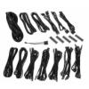 Bitfénix BitFenix Alchemy 2.0 PSU kábelkészlet, SSC széria fekete