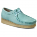 Clarks Félcipő CLARKS - Wallabee 261179234 Light Blue Nbk