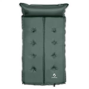 Yukatana Goodbreak 5, 5 cm, zöld, dupla felfújható habszivacs, matrac, önfelfújó, fejrész