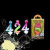 Szám gyertya színes 0-199 éves korig (2-es)