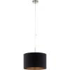 EGLO 94913 Textil függeszték E27 60W 38cm fekete /réz Pasteri