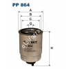 Filtron PP864 Filtron üzemanyagszűrő