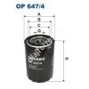 Filtron OP647/4 Filron olajszűrő
