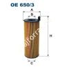 Filtron OE650/3 Filron olajszűrő
