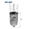 Filtron PP987 Filtron üzemanyagszűrő