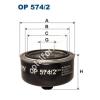 Filtron OP574/2 Filron olajszűrő