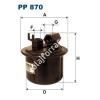 Filtron PP870 Filtron üzemanyagszűrő