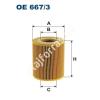 Filtron OE667/3 Filron olajszűrő