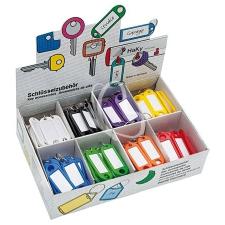 WEDO Kulcscímke display 200 db, S -akasztóval, WEDO, 8 különböző színben információs címke