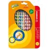 """STABILO Színes ceruza készlet, háromszögletű, balkezes, STABILO """"EasyColours"""", 12 különböző szín"""