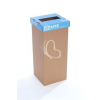 """ÖKUKA Szelektív hulladékgyűjtő, újrahasznosított, angol felirat, 60 l, RECOBIN """"Slim"""", kék"""