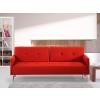 Beliani Lucan Kárpitozott szövet kanapéágy - piros