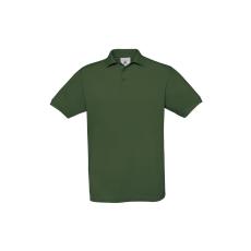 B&C B&C Safran piké pamut póló, sötétzöld