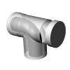 Ricom gas PPS/Alu 80/125-ös könyökidom vizsgálónyílásal