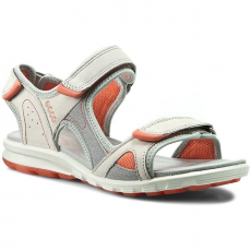 Ecco Szandál ECCO - Cruise 84161359553 Shadow White/Silver Grey/Coral