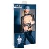 ZADO - csipke-bőr boleró (fekete) (S)
