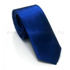 Szatén slim nyakkendõ - Királykék