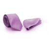 Zsorzsett szatén slim szett - Orgonalila nyakkendő